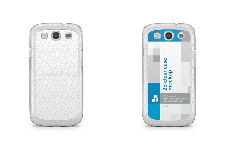 Samsung Galaxy S3 2d Clear Mobile Case Design Mockup 2012 example image 1