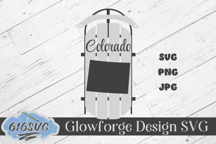 Colorado State Decorative Sled SVG, Designed For Lasers example image 1