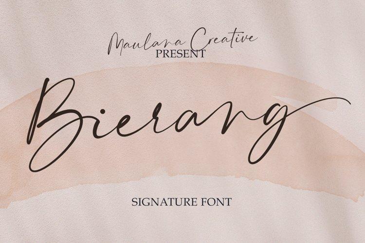 Bierang Signature Font example image 1
