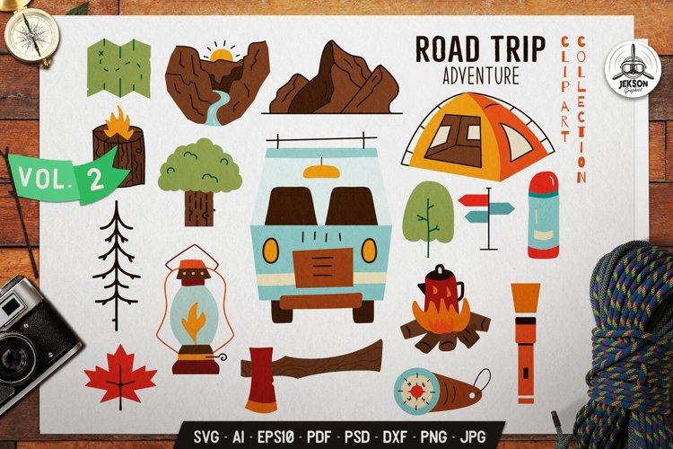 Camping SVG Bundle | Road Trip Adventure Clip Art Elements