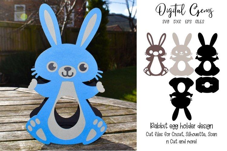 Bunny Rabbit Easter egg holder design SVG / DXF / EPS files. example image 1