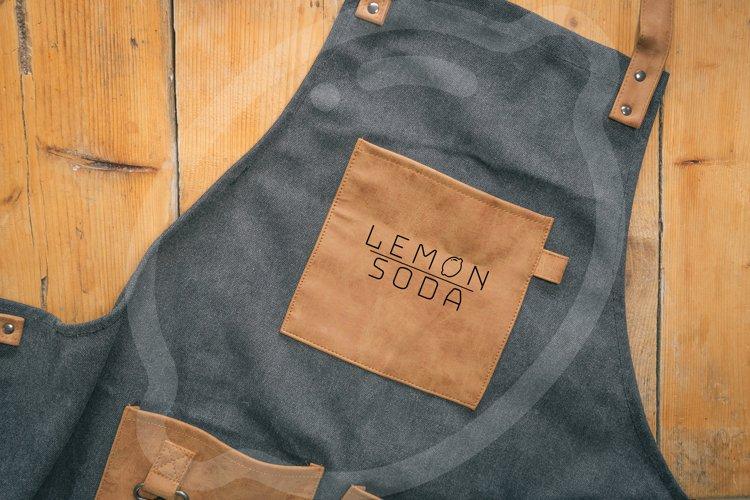 Mockup | leather bbq apron mockup |kitchen apron | logo