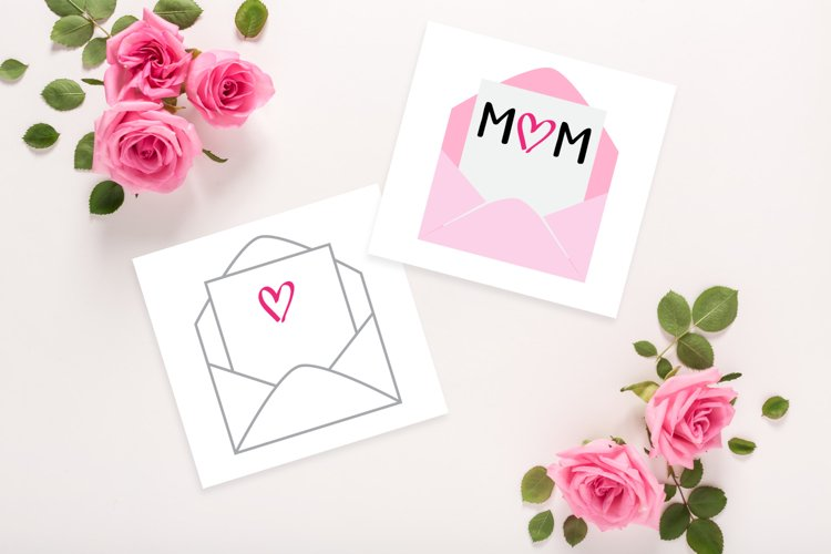Mom-velope Mothers Day SVG File
