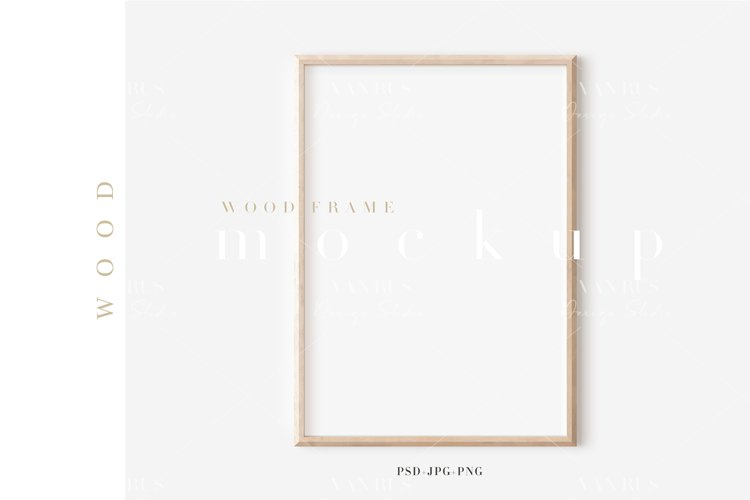 Wood Mockup Frame/Modern Simple A4 Design/JPG PNG PSD/M404