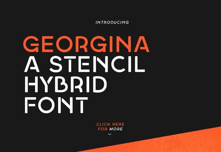 Georgina - A Stencil Hybrid font example image 1