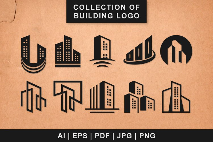 Collection of logo designs for office or company buildings