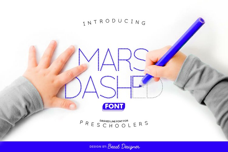 Mars Dashed Font for Preschoolers example image 1