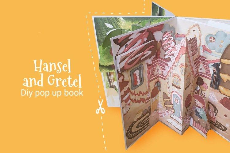 Hansel and Gretel diy pop-up book, kids papercraft