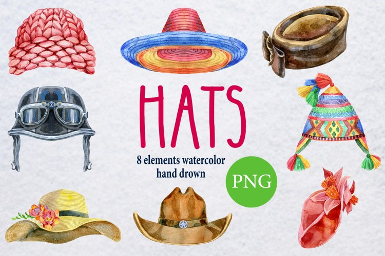 Watercolor amazing hats 2
