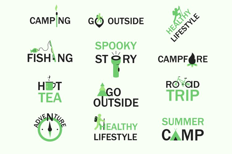 Camping and healthy lifestyle concepts example image 1