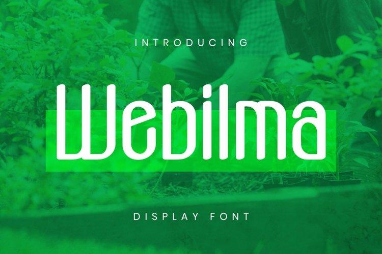 Web Font Webilma Font example image 1