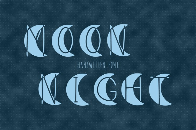 Moon night handwritten font in ttf, otf example image 1