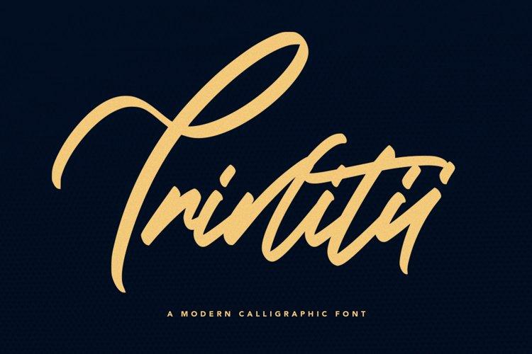 Trinitii - Modern Calligraphic Font example image 1
