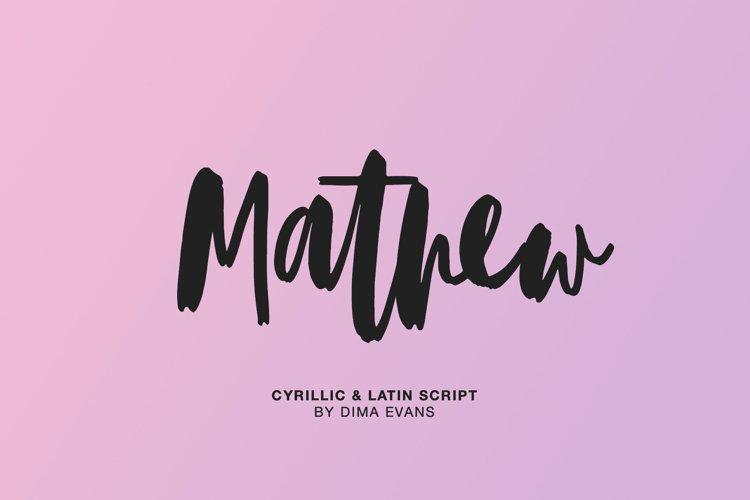 Mathew Cyrillic & Latin Script example image 1
