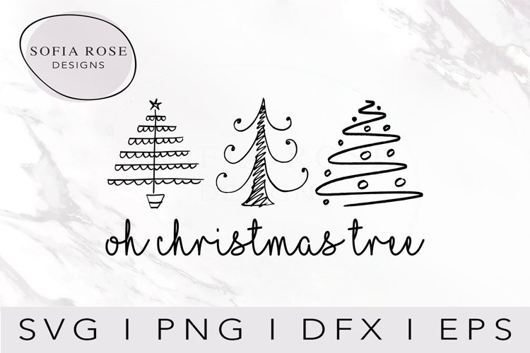 oh christmas tree SVG-Christmas SVG-Holiday SVG-Clip Art example image 1