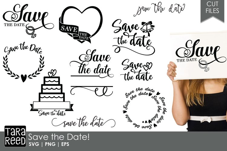 Save the Date - Wedding SVG & Cut Files for Crafters
