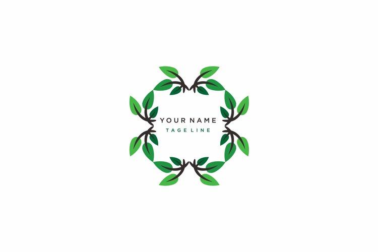 Living Environment Design. vector abstract green leaf logo