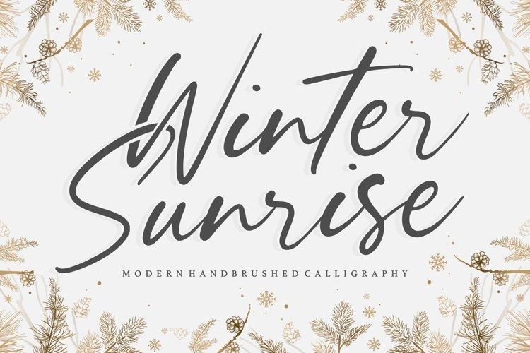 Winter Sunrise Modern Handbrushed Calligraphy Font example image 1