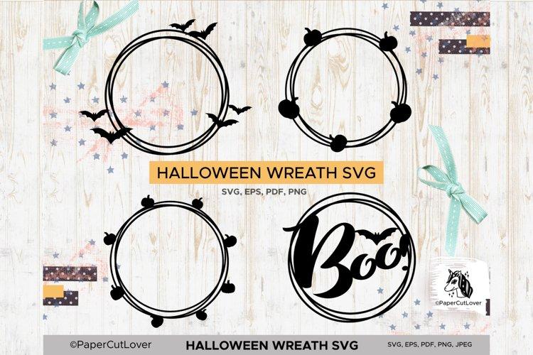 Halloween wreath SVG Set, Pumpkin Thanksgiving SVG example image 1