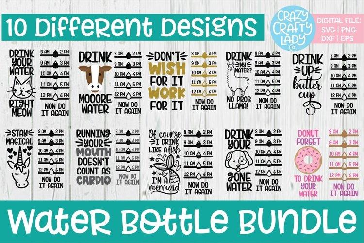 Water Bottle Tracker SVG DXF EPS PNG Cut File Bundle