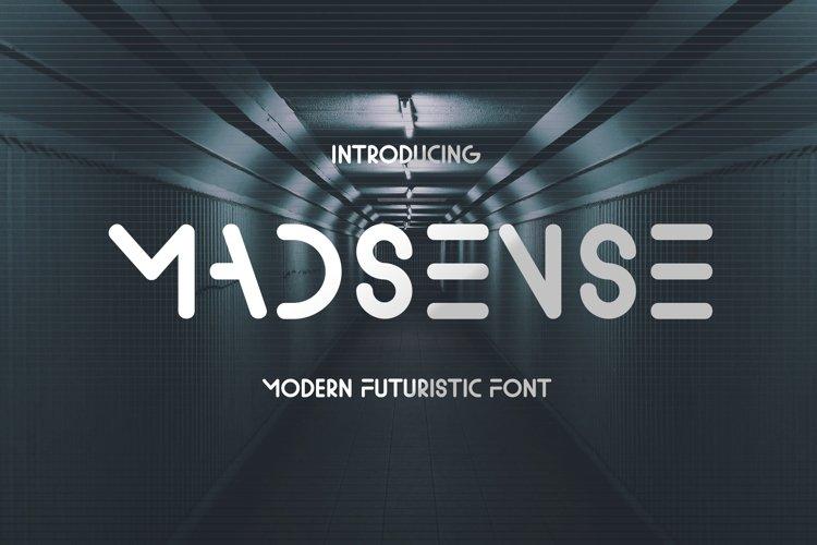 Madsense - Modern Futuristic Font example image 1
