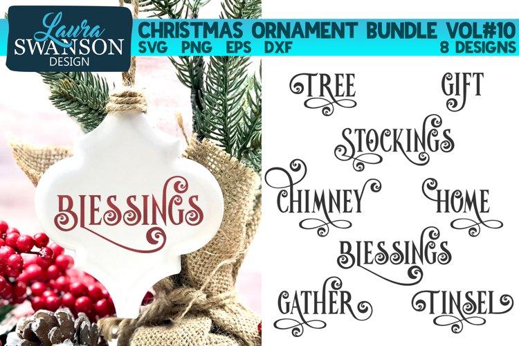 Christmas Ornament Bundle Vol#10 | Christmas SVG Bundle example image 1