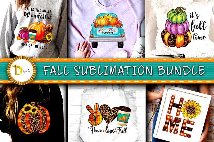 Fall Sublimation Cliparts Bundle example image 1