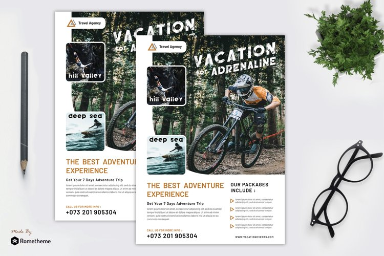 Holiday Vacation Flyer vol. 01 example image 1