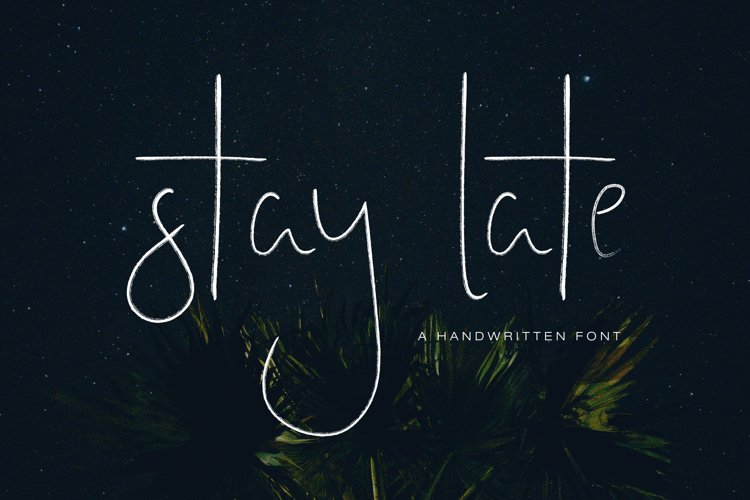 Stay Late - A Handwritten Font example image 1