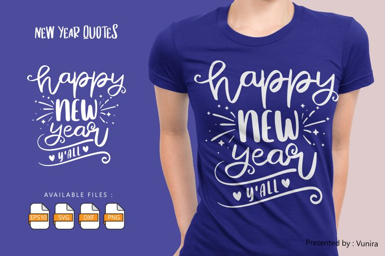 Happy New Year Y'All | Lettering Quotes example image 1