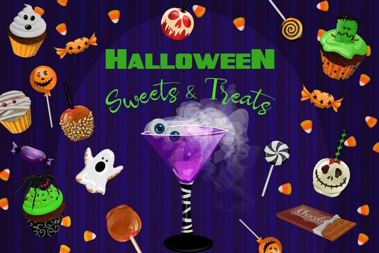 Halloween Sweets & Treats Clipart example image 1