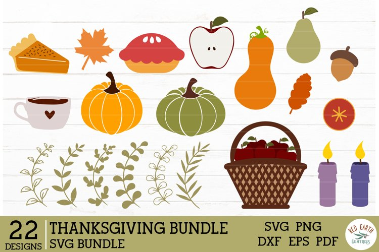 Thanksgiving elements SVG bundle,pumpkin gourd apples pie