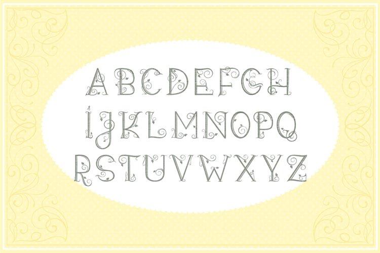 Leafy Monogram Font & Alphabet example 1