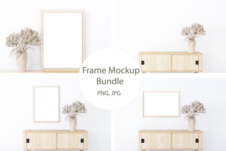 Frame Mockup Bundle, Frame Mock Up Minimalist, Interior Mock example image 1