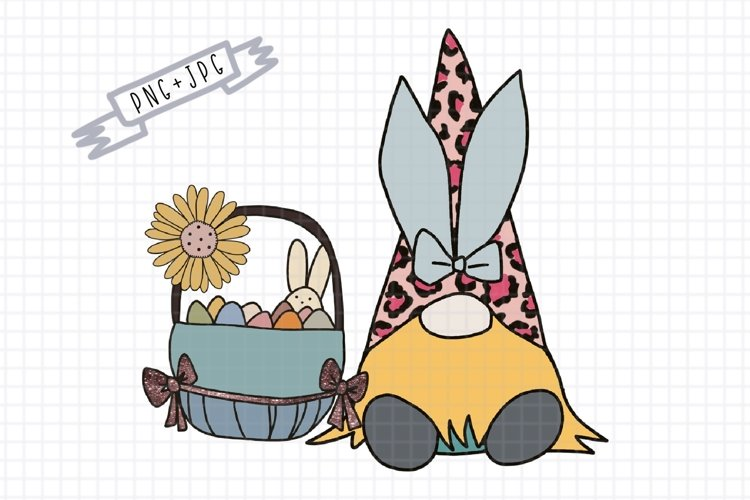 Sublimation Where My Bunny Easter Gnome leopard png Egg png
