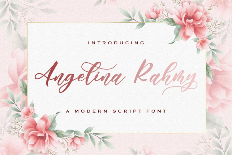 Angelina Rahmy - Modern Script Font example image 1