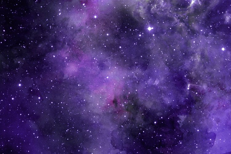 Space Watercolor Backgrounds - Free Design of The Week Design3
