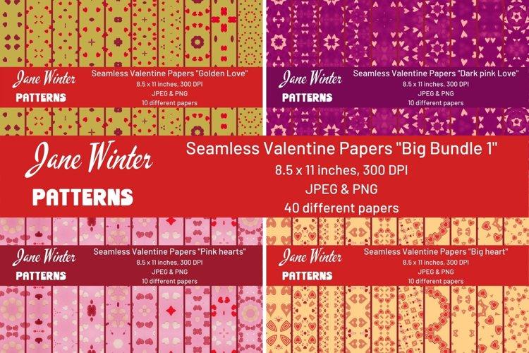 Seamless Valentine Papers Big bundle 1