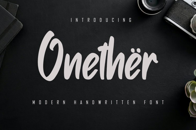 Onether - Modern Handwritten Font example image 1