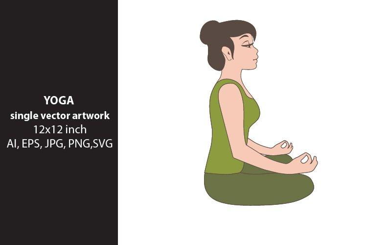 YOGA - single vector artwork example image 1