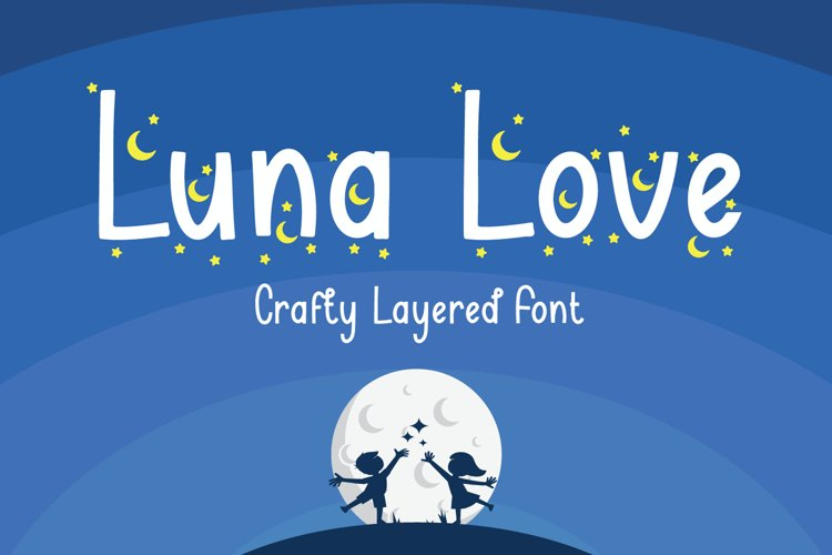 Luna Love - Layered Crafty Font example image 1