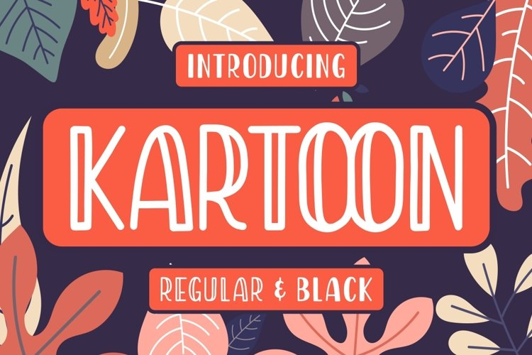 Kartoon - Display Font example image 1