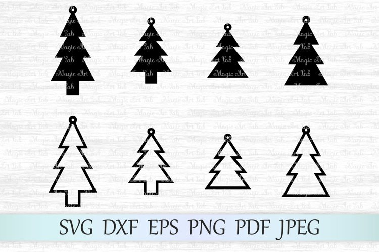 Christmas svg, Christmas tree svg, Christmas earrings svg example image 1