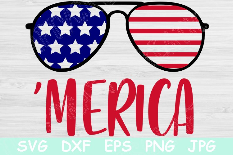 Merica Svg, 4th of July Svg, Patriotic Svg, Independence Day example image 1