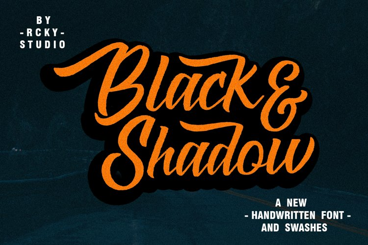 Black & Shadow Font example image 1