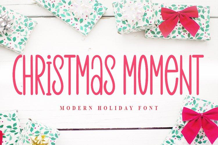 Christmas Moment - Modern Holiday Font example image 1
