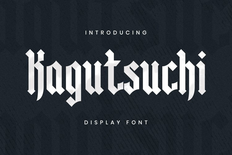 Web Font KAGUTSUCHI Font example image 1