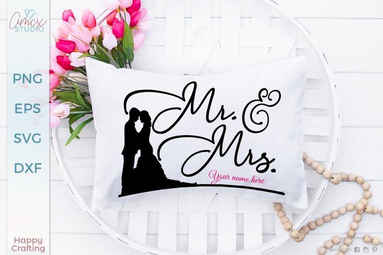 Mr. & Mrs. Wedding Couple SVG file example