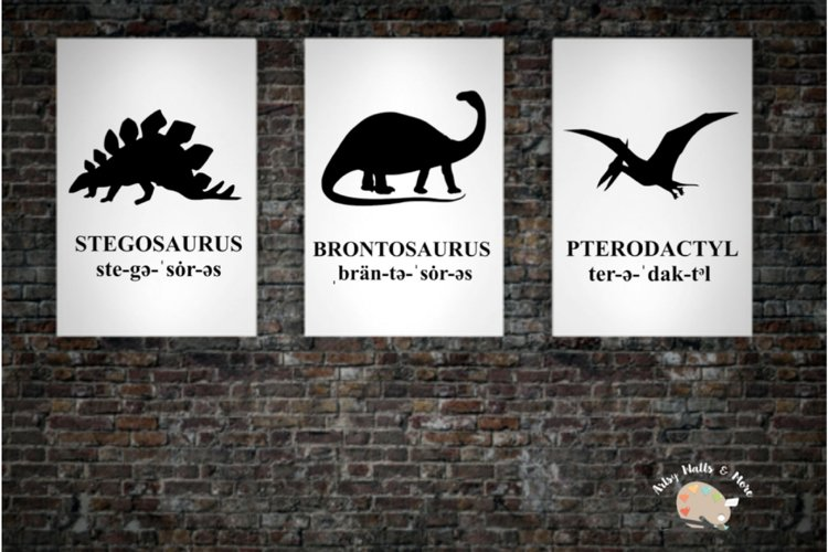 Dinosaur wall art Printable boys bedroom dinosaur poster