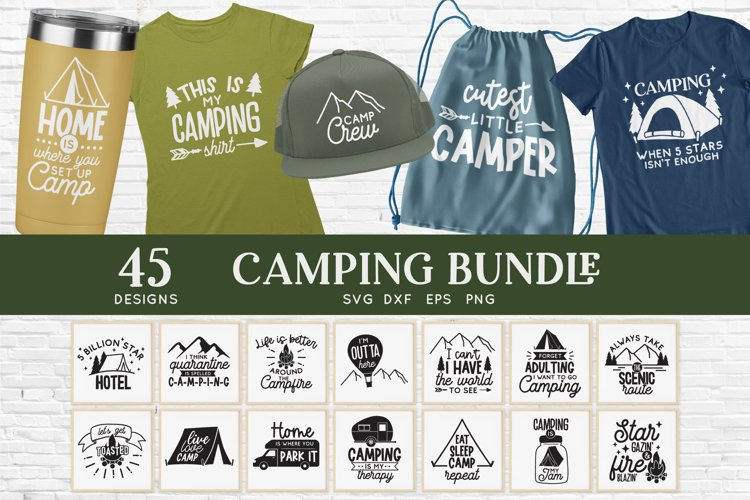 Camping svg bundle - outdoor adventure svg png eps dxf